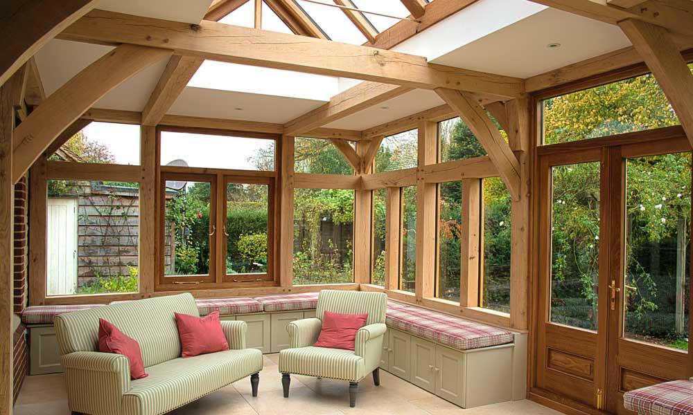 Garden rooms orangeries english oak frames for Oak garden rooms